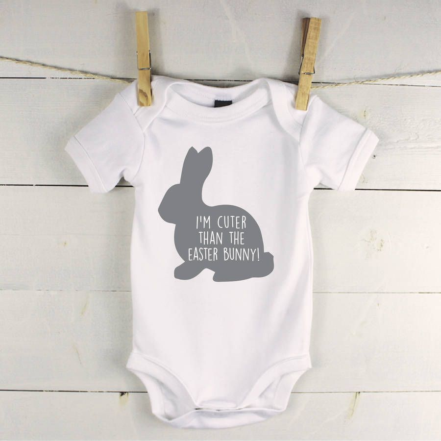Im cuter than the easter bunny babygrow easter bunny easter and easter baby negle Image collections