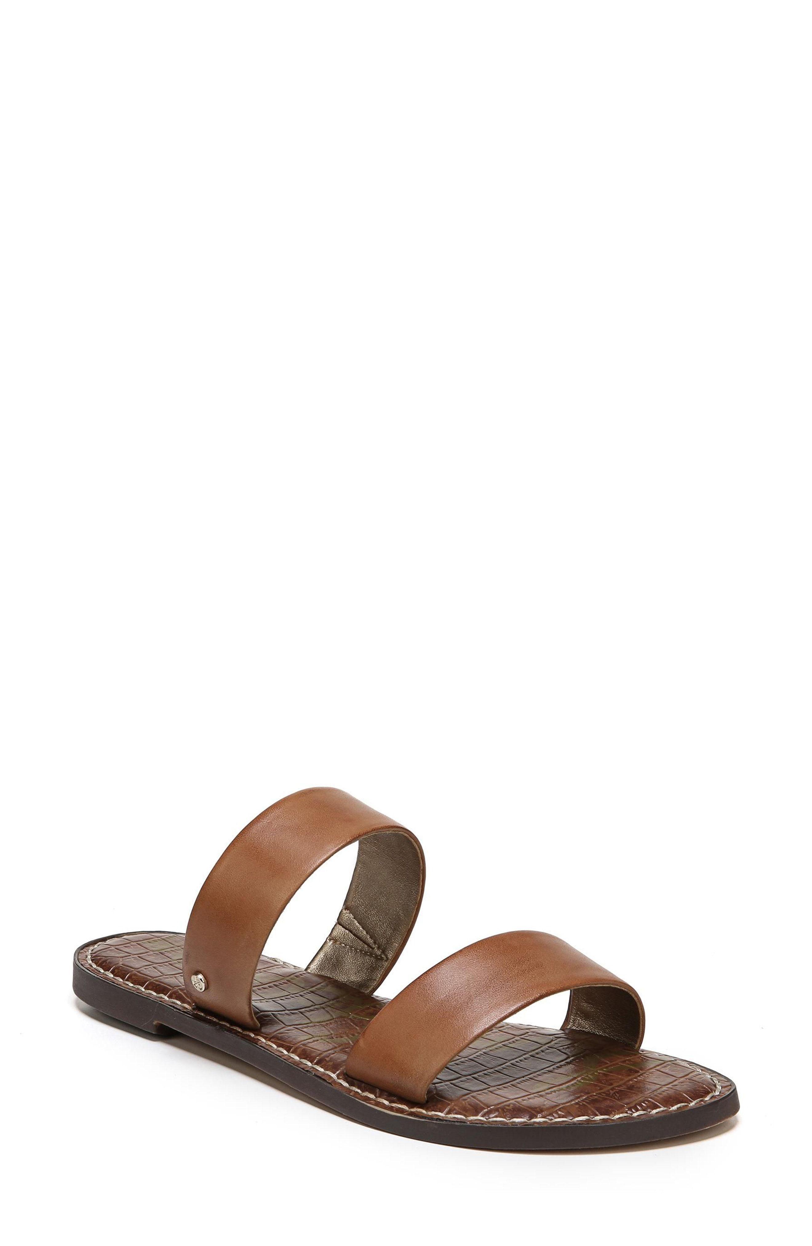 602ecea82 sam edelman gala leather two strap slide sandal