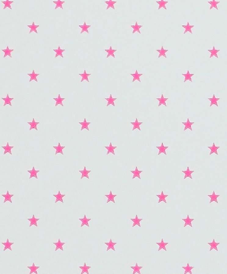 Mini Estrellitas Rosas Con Fondo Crema