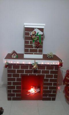 Resultado de imagen para como hacer chimeneas navideñas en carton ...
