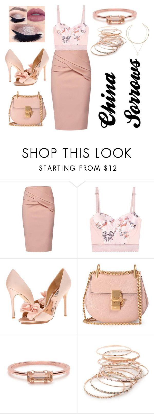 """""""China Sorrows business 8"""" by dexyrie ❤ liked on Polyvore featuring tarte, WtR, STELLA McCARTNEY, Badgley Mischka, Chloé, Bing Bang, Red Camel and Natasha"""