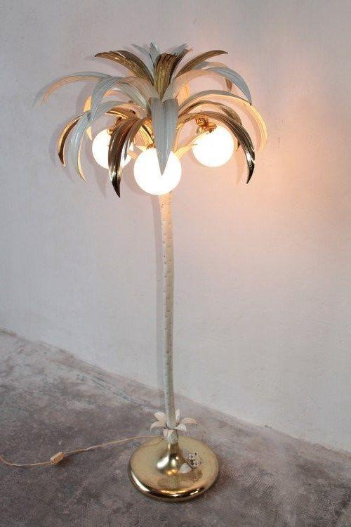 Floor Lamp 1960s By Maison Jansen Palm, Palm Floor Lamp Silver
