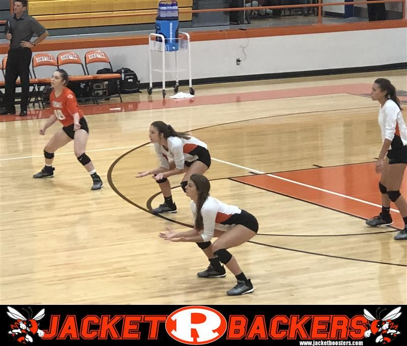 Rockwall Lady Jackets Jv Easily Defeated Mesquite Horn In Two Sets At Rockwall High School Jackets For Women High School Jackets
