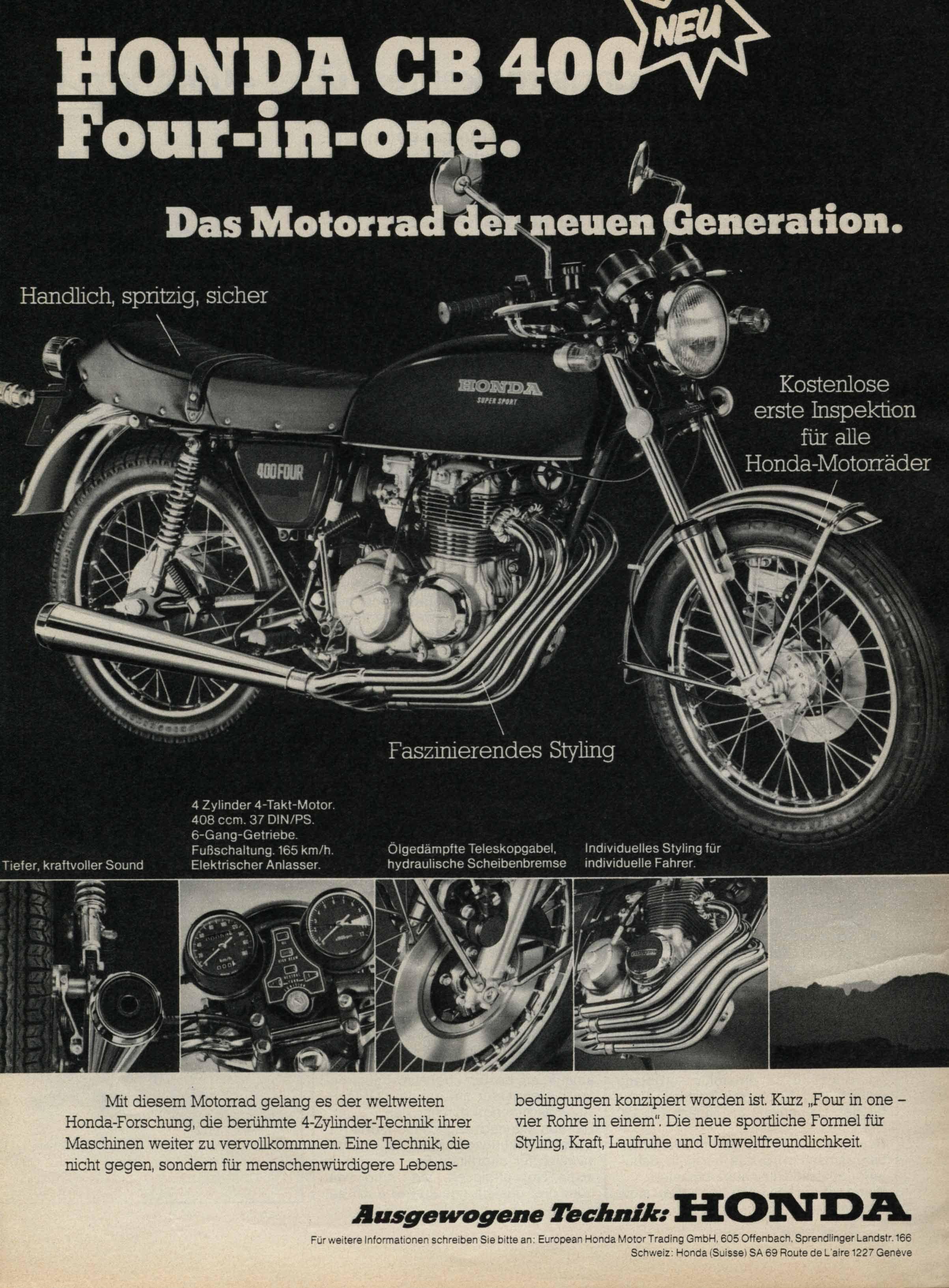 Honda CB400F retro advertisement   dicana   Pinterest   Honda, Honda ...