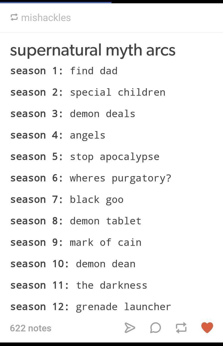 Supernatural Story Arcs   Supernatural, Supernatural funny ...