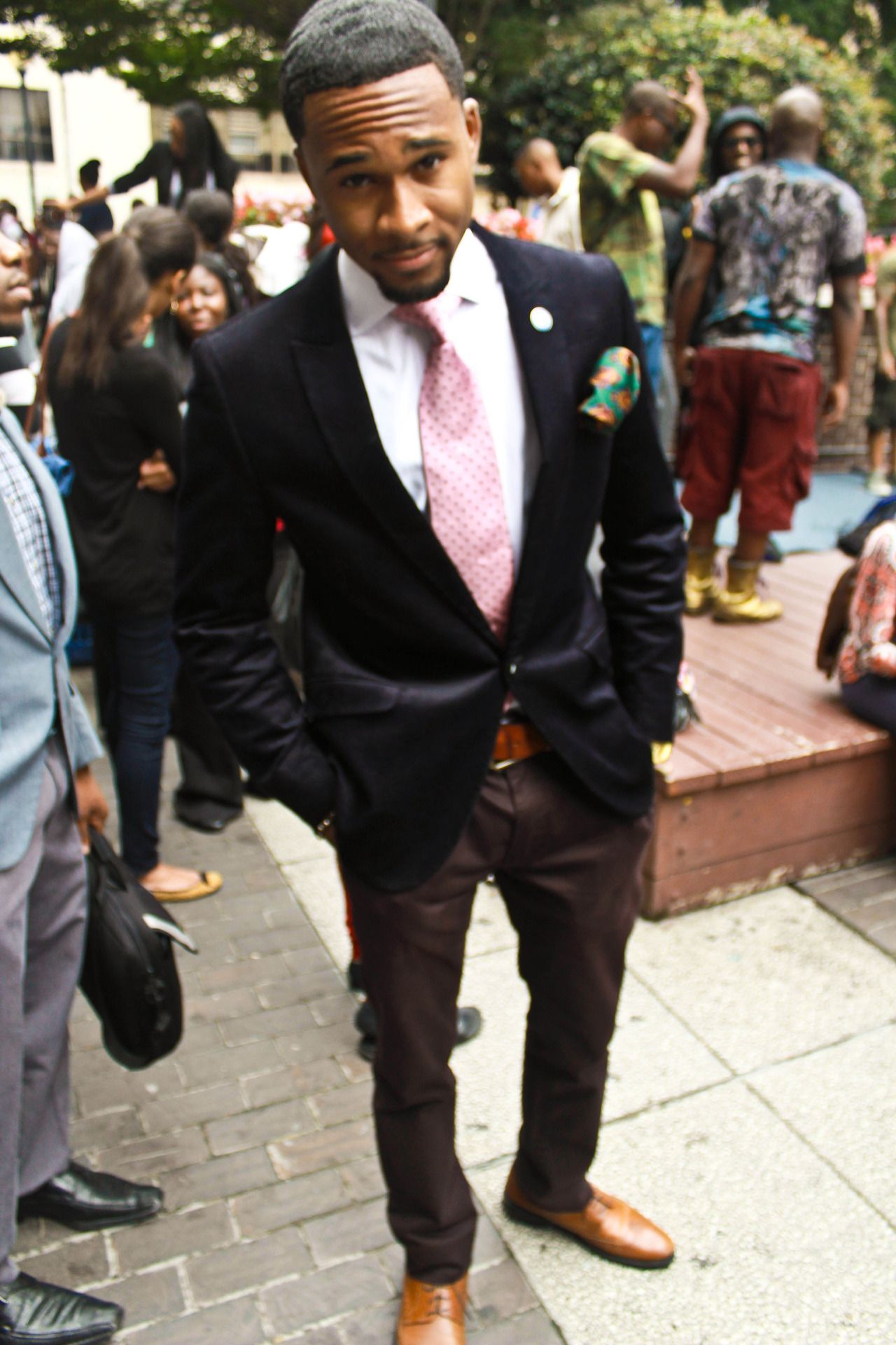 Educated, Ambitious, Well-dressed black man. Go on brother man ...