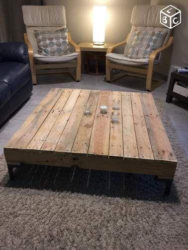 Table Basse En Bois De Palette Ameublement Haute Garonne Leboncoin Fr Table Basse En Bois De Palette Table Basse Bois Table Basse