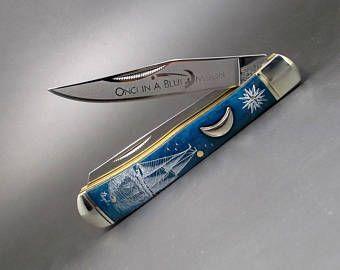 Scrimshaw Messer 2 Klinge Messer Tasche Messer Nautischen