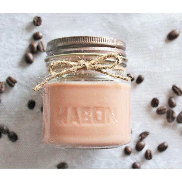Soy Candle Morning Delight Coffee Candle Half-Pint 8 Oz Mason Jar
