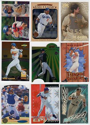 1995 1999 Mike Piazza Insert Card Lot Dodgers Marlins Mets Rare Hard