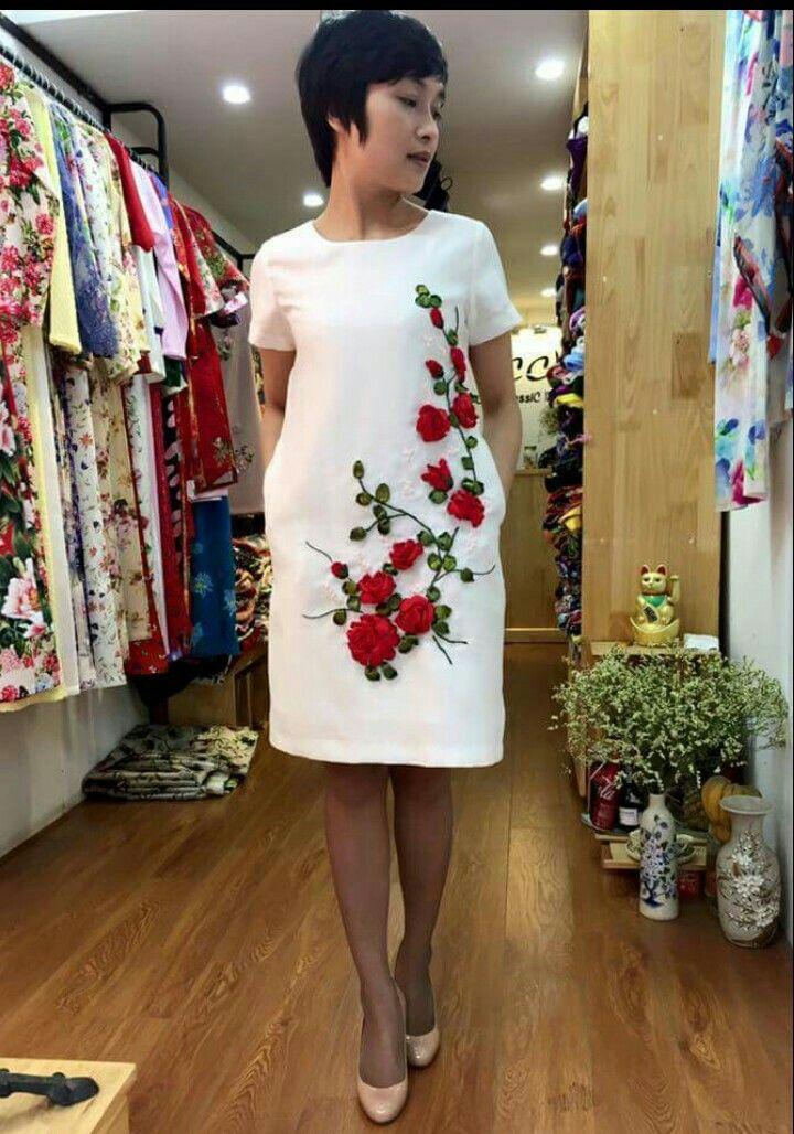 Clásico En 2019 Vestidos Bordados Vestidos De Manta