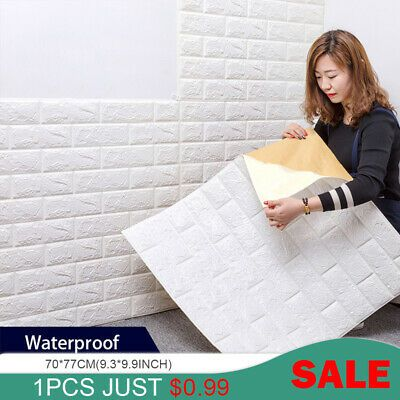 Best Details About 3D Brick Wall Stickers Living Waterproof 640 x 480