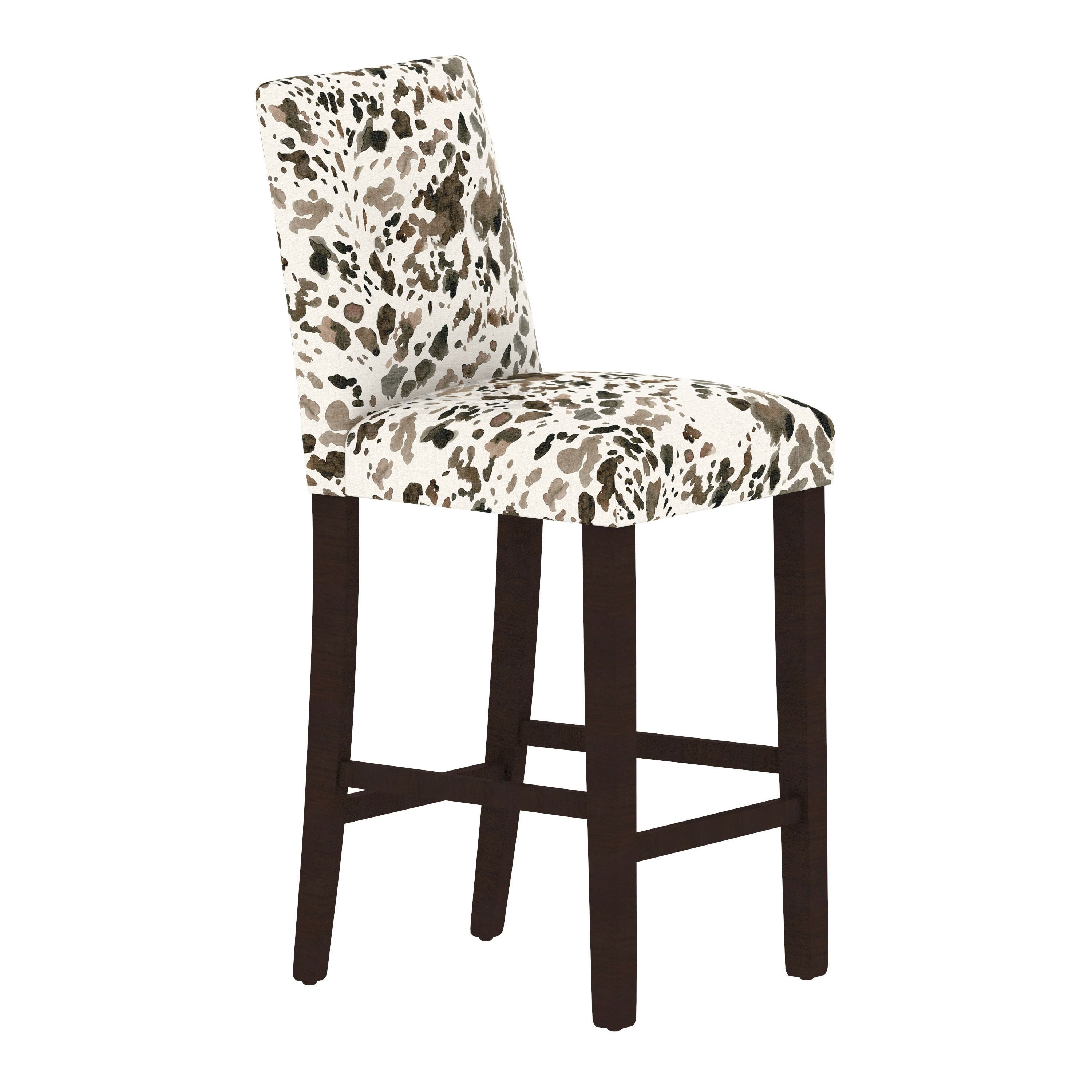 Pleasant Skyline Furniture Custom Bar Stool With Buttons In Prints Ncnpc Chair Design For Home Ncnpcorg