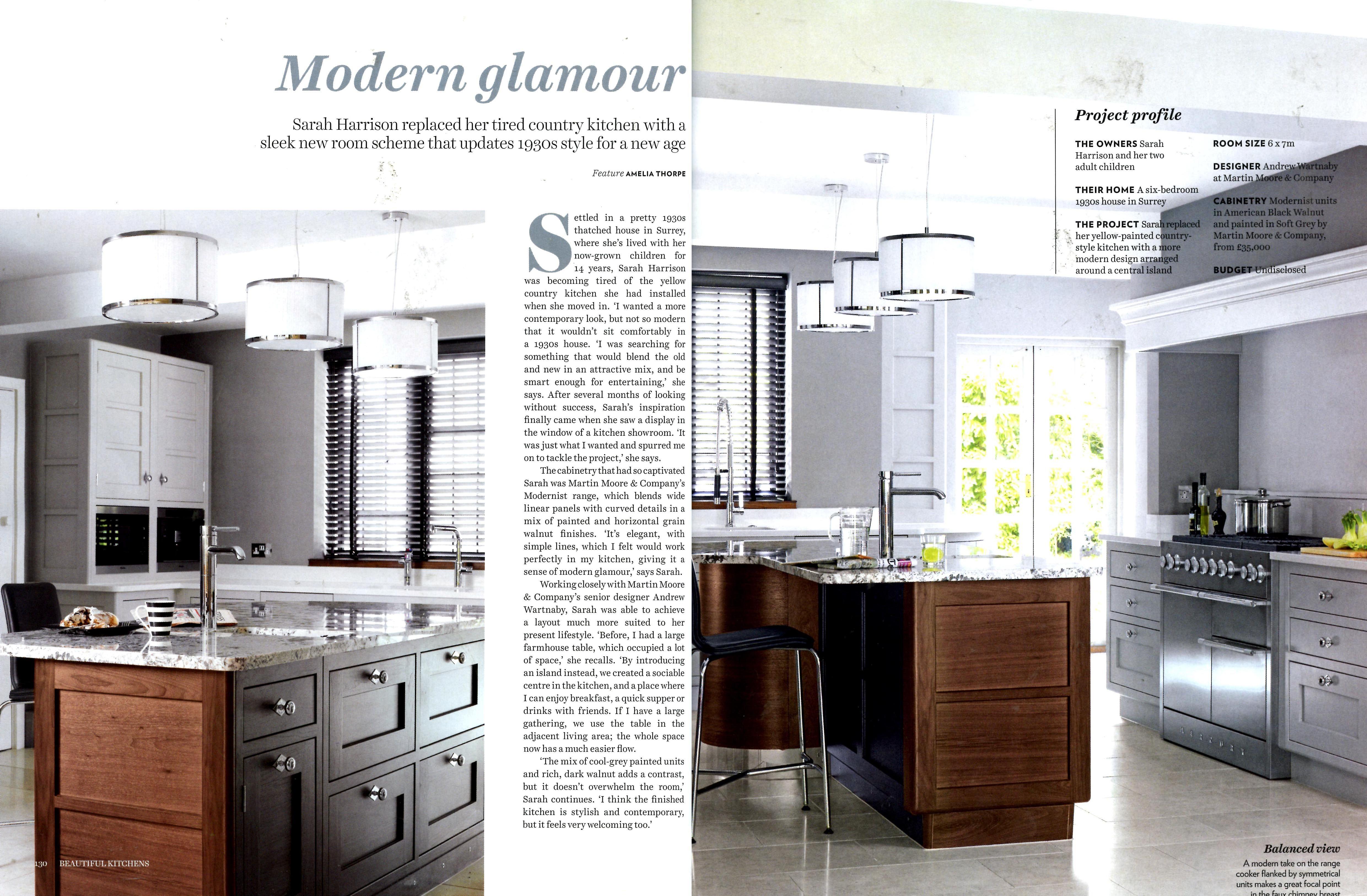 Martin Mooreu0027s U0027Modernistu0027 Kitchen Collection, Featuring Contrasting Rich  Dark Walnut And Cool Grey