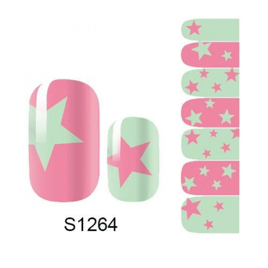 1 Pack Pride Manicure Full Fashion Self Adhesive Nail Art Stickers Style Code S1264 ** See this great product.