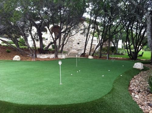 One Of Our Putting Greens Backyard Putting Green Artificial