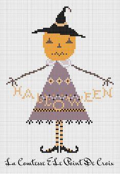 La Comtesse & Le Point De Croix | Halloween cross stitch patterns, Pumpkin cross stitch, Cross ...