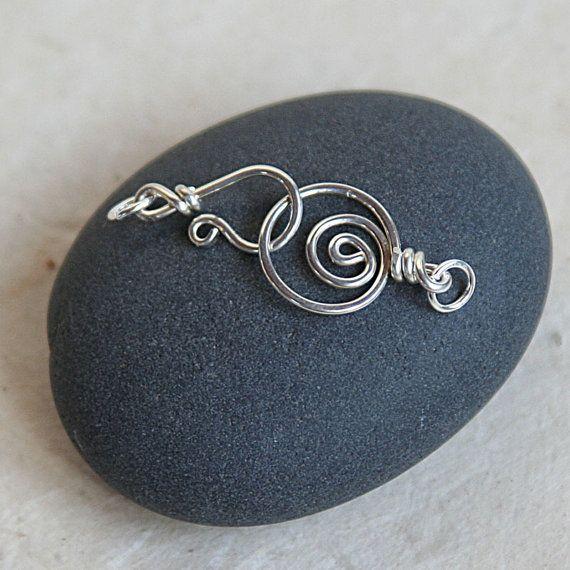 Silber Verschluss Spirale handgemachte Silber von funkyprettybeads