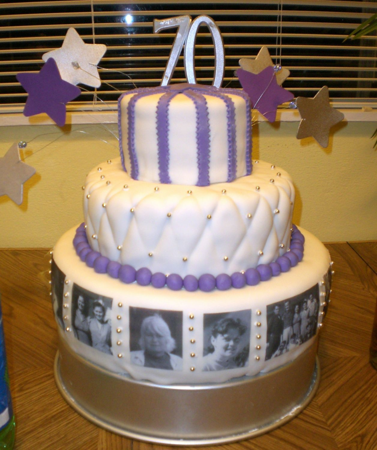 Grandmaus th birthday cake my cousin and i made this for our