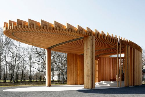 Architekten Landau schützendes dach kirchenpavillon in landau modern church and