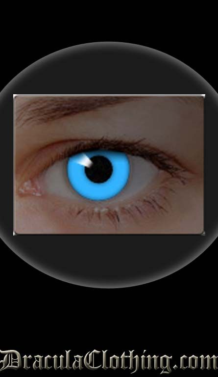 Blue Glow Contact Lenses | Contact lenses, Custom contact ...