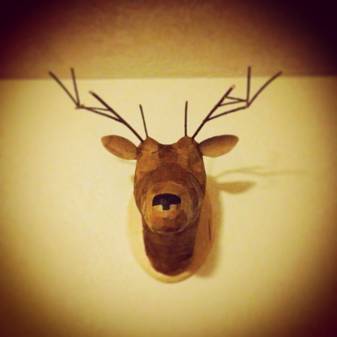 Made this faux taxidermy deer head from toilet paper rolls, paper ...