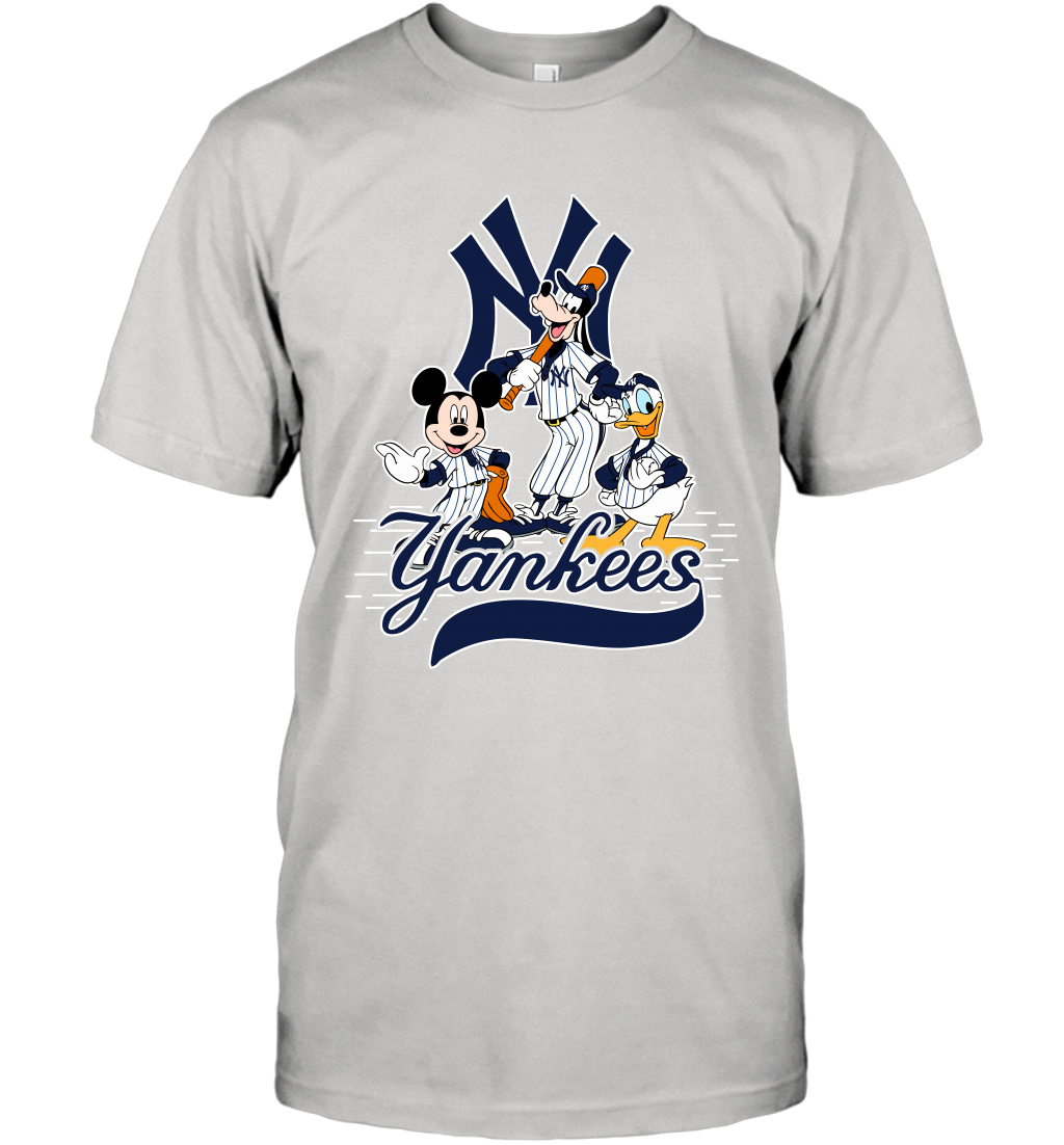 Popsspot Com Game Sports Mickey Mouse Donald Duck Baseball Tshirts New York Yankees