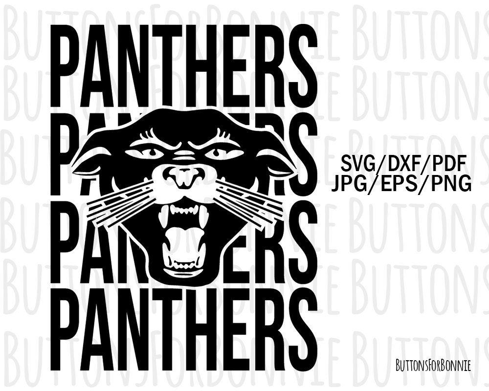 Panthers Svg Mascot Svg Football Baseball Basketball Etsy In 2020 Sports Mom Softball Logos School Spirit