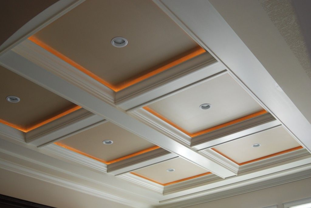 Coffered Ceiling Accent Lighting Rope