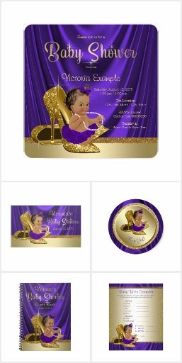 purple and gold baby shower | princess elise babyshower ( royal, Baby shower invitations
