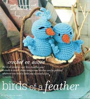 FREE Blue Bird Amigurumi Crochet Pattern and Tutorial ༺✿ƬⱤღ  https://www.pinterest.com/teretegui/✿༻
