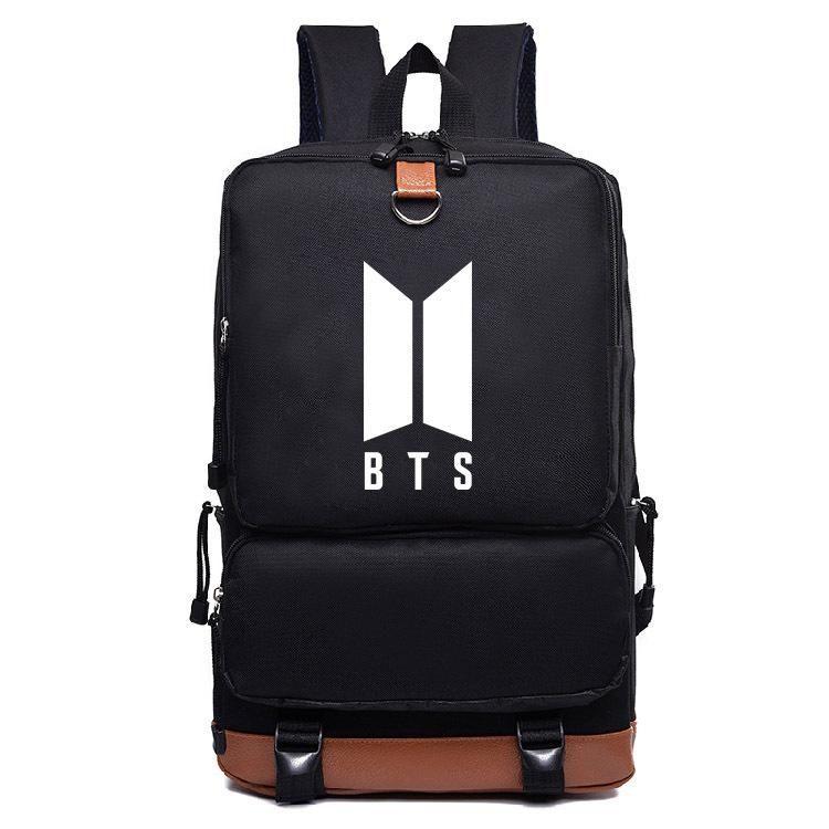 2b0675e45dd5 NEW logo ,Bangtan Boys BTS backpack,korean kpop stars school bag ...
