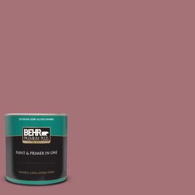 Behr Premium Plus 1 Qt S130 5 Heirloom Rose Semi Gloss Enamel Exterior Paint And Primer In One In 2020 Behr Premium Plus Exterior Paint Behr