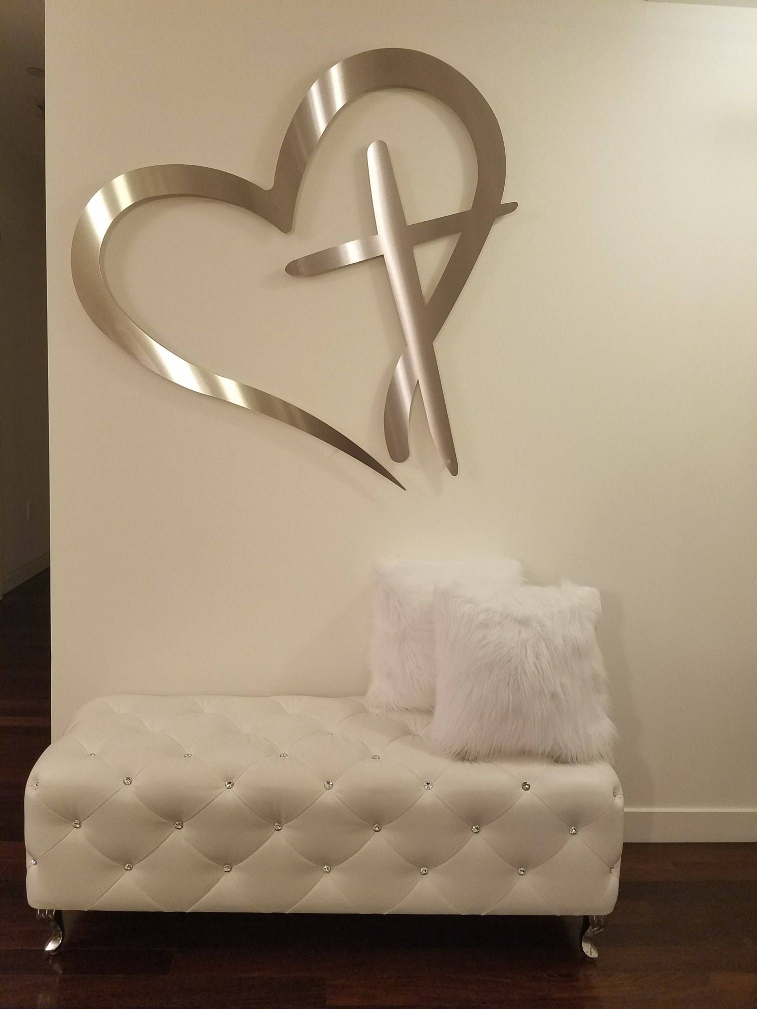 Large Metal Heart Wall Decor Christian Metal Wall Art Large Metal Wall Cross Modern Wall