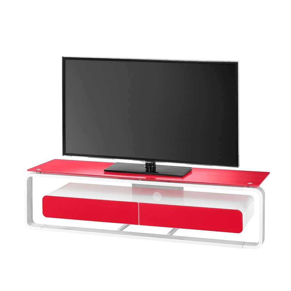 Beeindruckend Tv Tisch Referenz Von Glas In Wei Rot Beleuchtung Jetzt Bestellen
