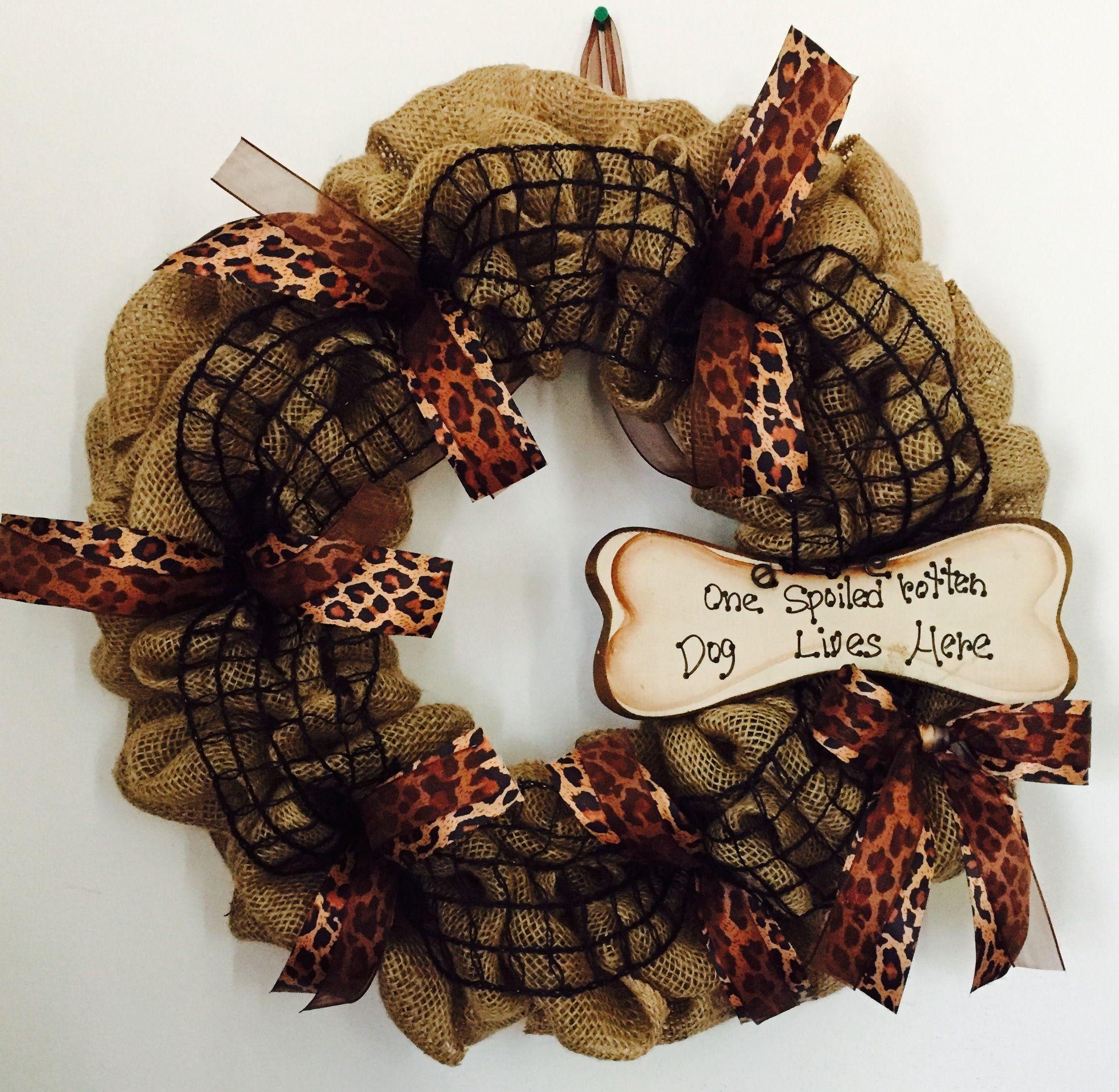 Dog Burlap wreaths