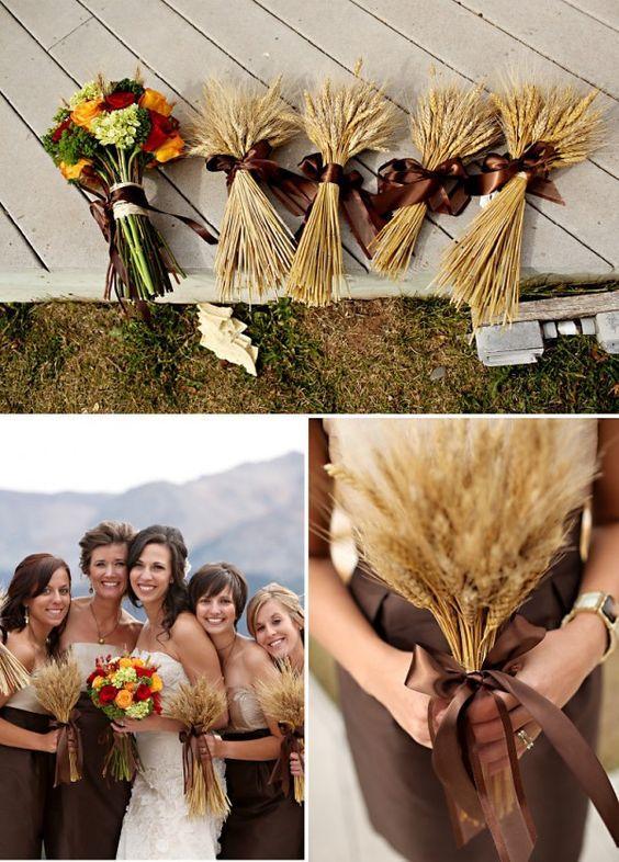 30 Fall Rustic Country Wheat Wedding Decor Ideas