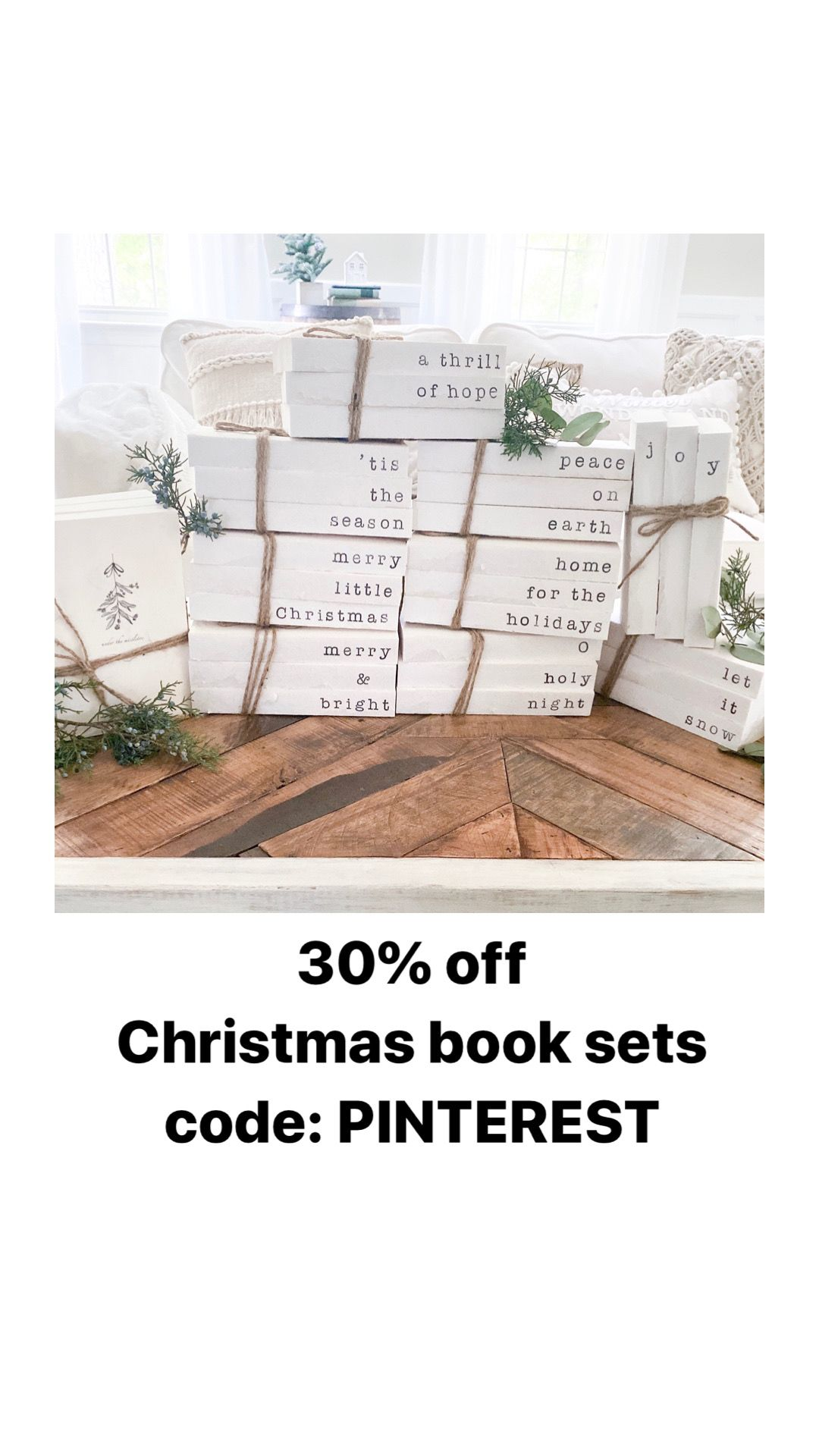 Beautifully crafted hand stamped Christmas books. Perfect