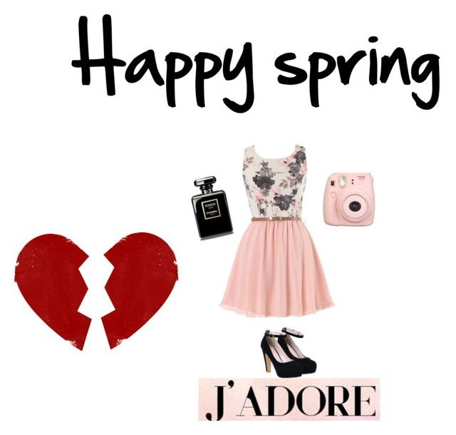 """Spring is love❣"" by kawaiistrawberri on Polyvore"