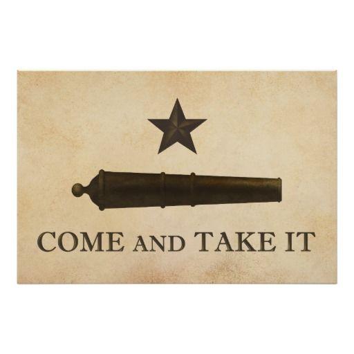 Come And Take It Poster Zazzle Com In 2020 Texas Poster Texas Tattoos Come And Take It