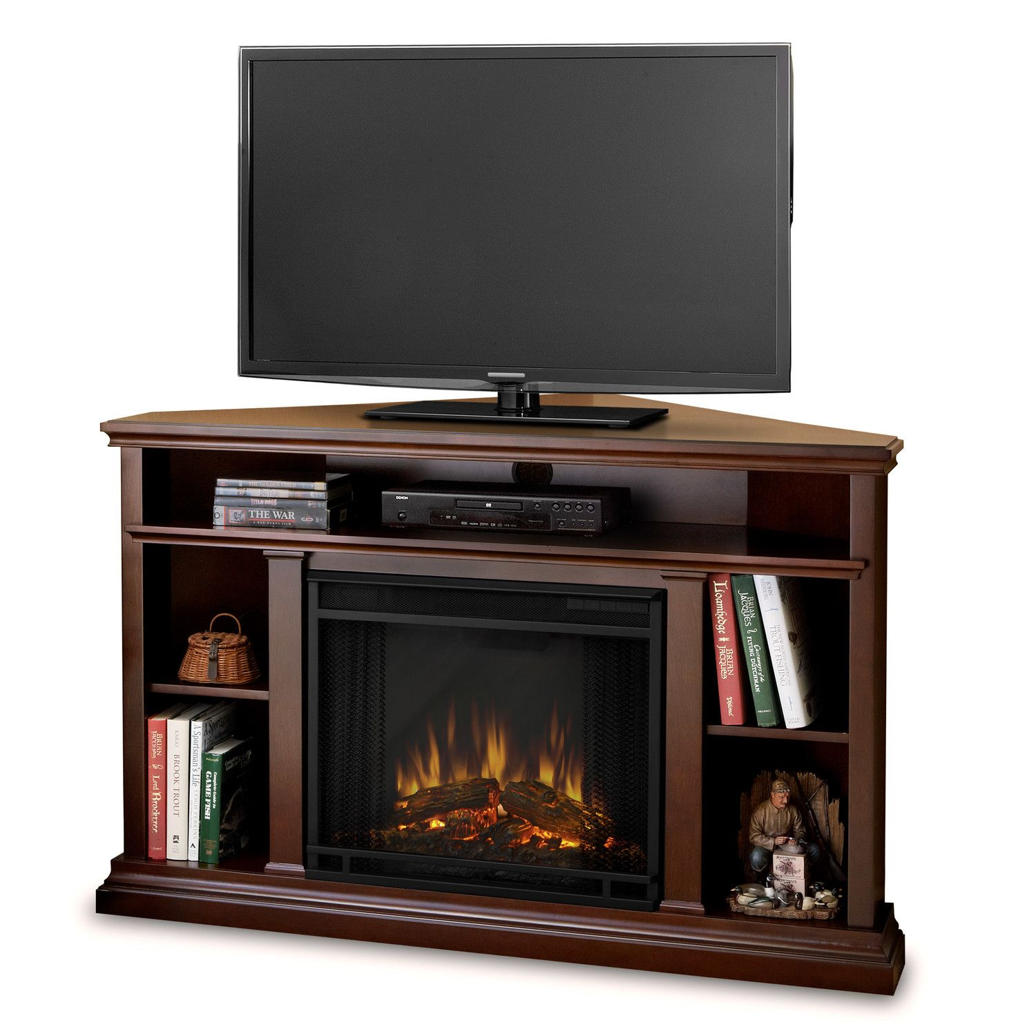 Real Flame Churchill Tv Stand With Electric Fireplace Home Ideas