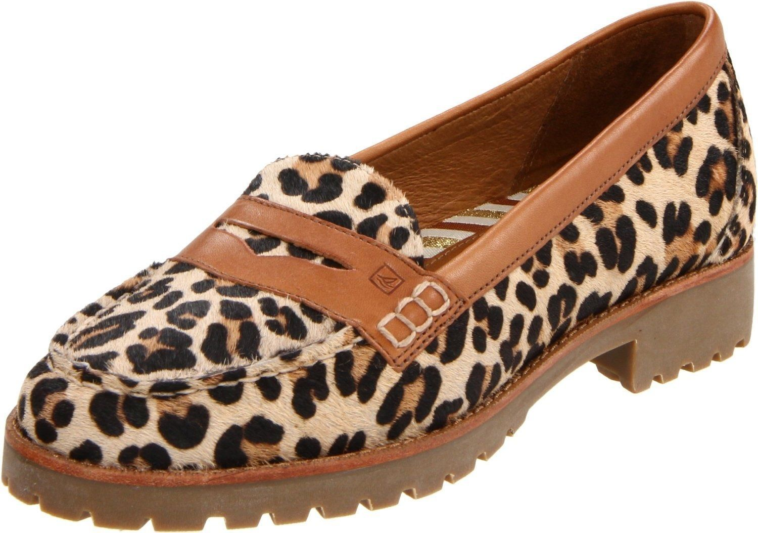 743569e27014 Sperry Top-Sider Winsor Loafers Womens Leopard Cognac. eBay. dominantdeals.