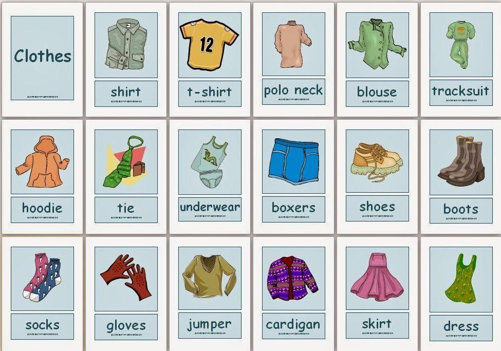 Одежда на английском языке для детей | Английский, Дети ...
