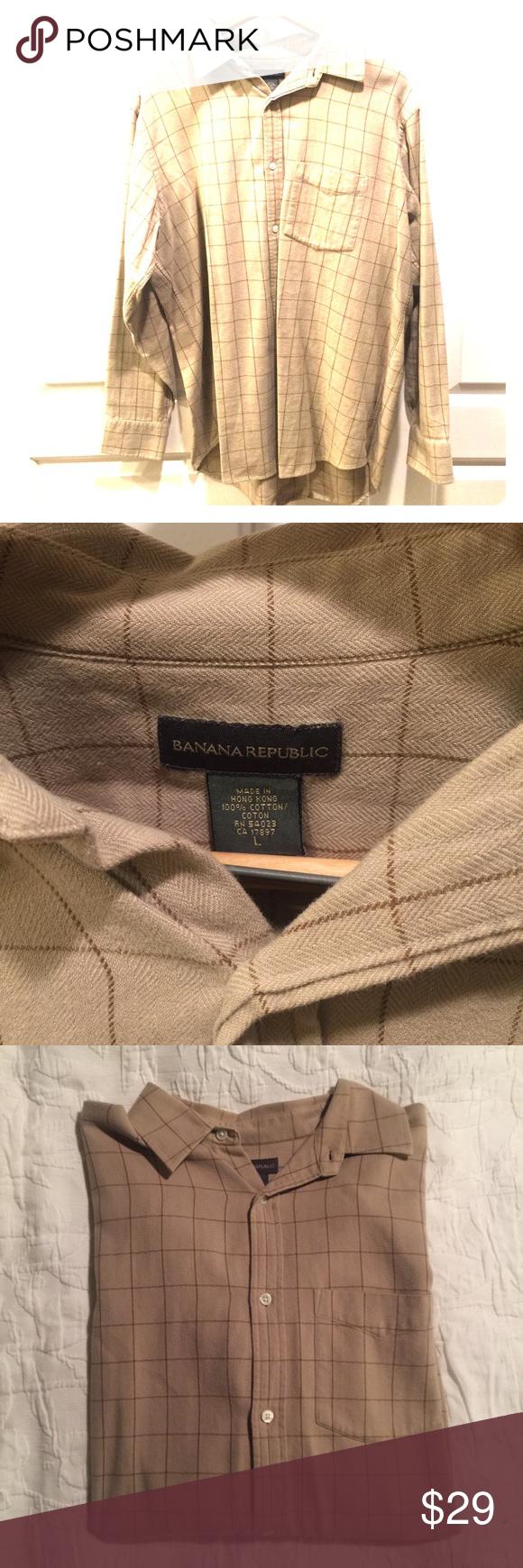 Men's Banana Republic L button down Flannel button down shirt. Banana Republic Shirts Casual Button Down Shirts