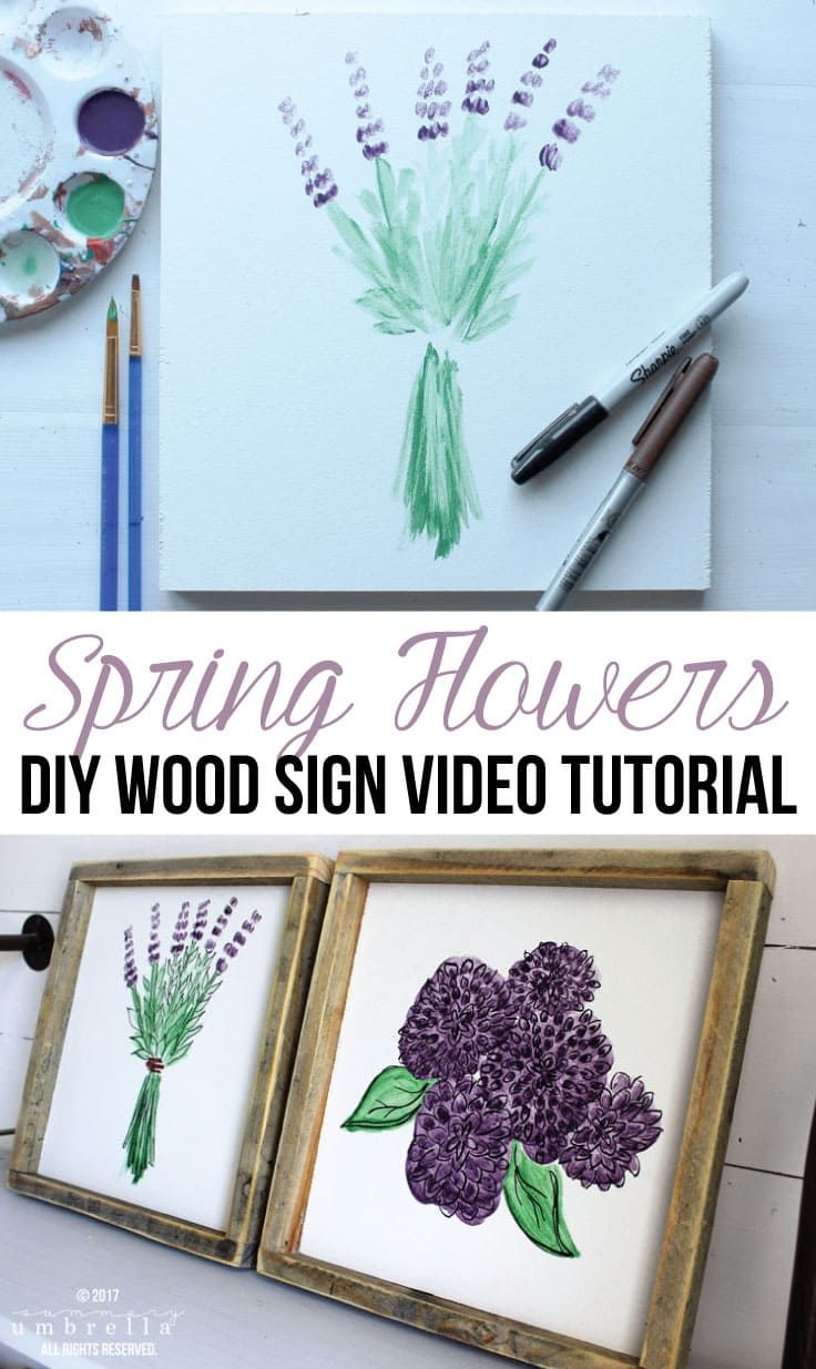 DIY Spring Flowers Wood Sign PLUS Video Tutorial