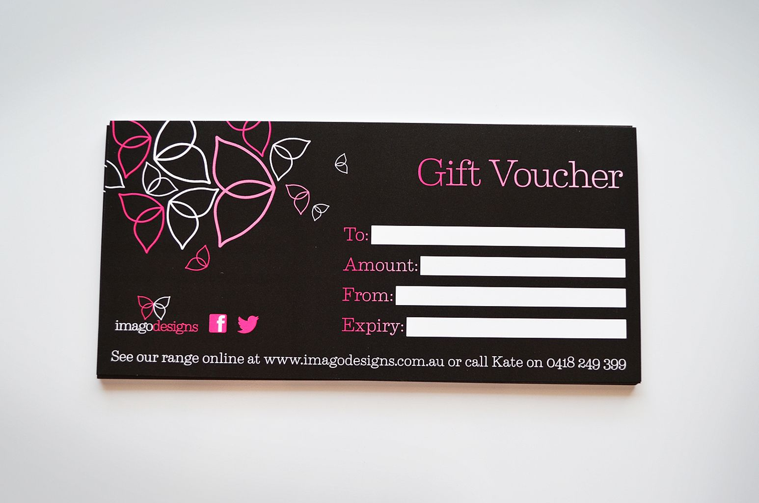 Jewellery gift voucher designs - Branding package for @Imago Designs ...