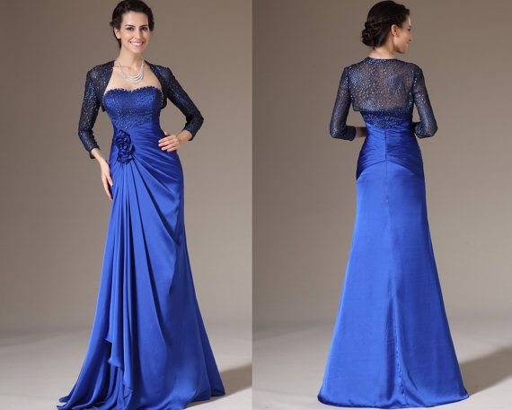Custom Made Blue Lace Bolero 2 Pieces Mother of the by STHNAB, $250.00