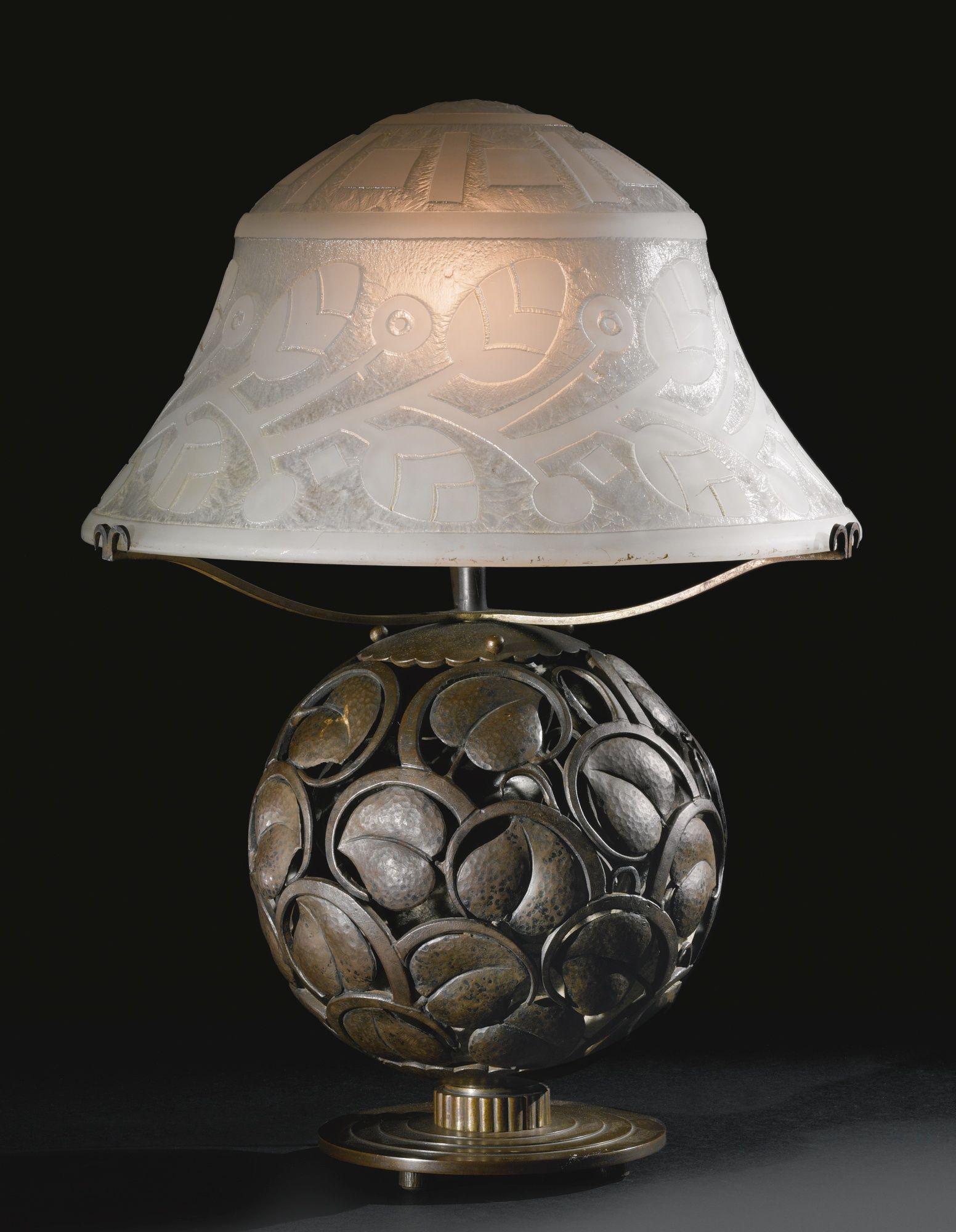 Edgar Brandt and Daum TABLE LAMP Estimate 20 000 — 30 000 USD LOT