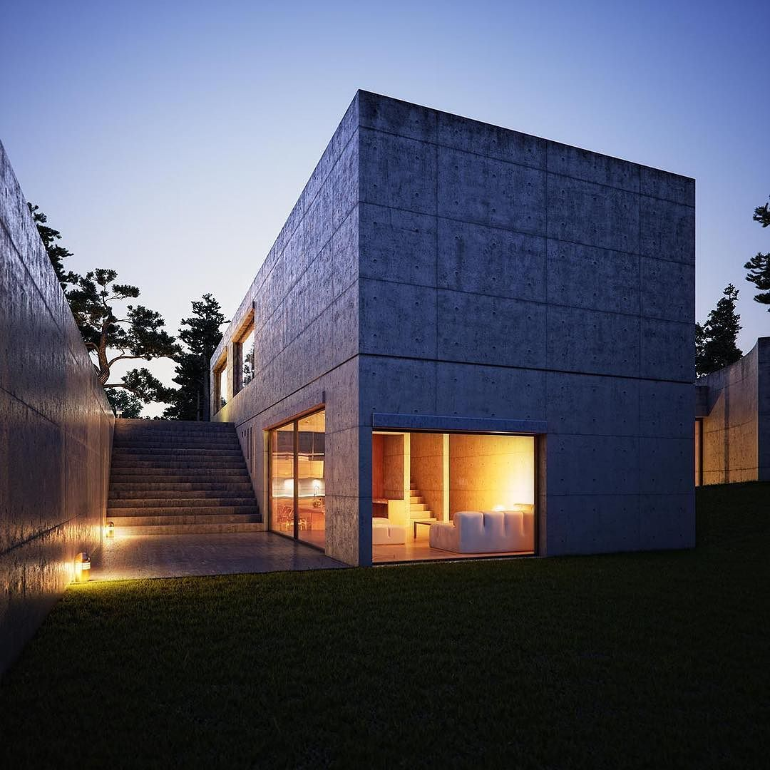 Ando tadao rokko house pinterest - House Koshino By Tadao Ando Location Ashiya Hyogo Japan By _archidesignhome_
