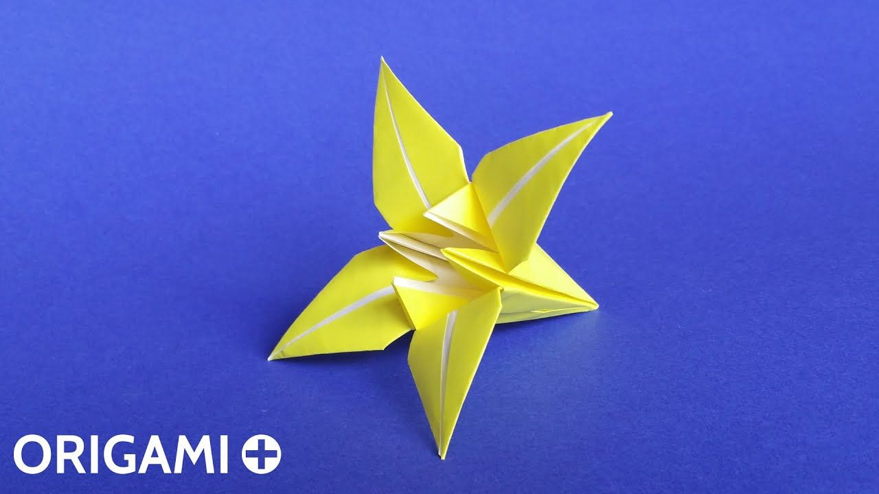 How To Make An Origami Lily Flower Iris Flower Tutorial Traditional Model Youtube In 2020 With Images Origami Lily Origami Water Lily Origami